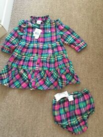 Brand new genuine baby ralph lauren dess with its knickers 6-9