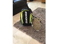 Babolat tennis bag and racket