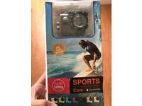 Sports camera with 30m waterproofing