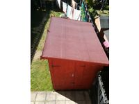 Wooden shed 6.5 ft x 10 ft