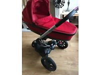 Quinny buzz Carry cot, red car seat maxi cozi stroller
