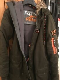 Superdry men's (s) the parka microfibre jacket