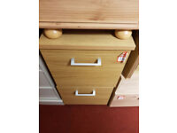 2 drawer filing cabinet - Oak Effect