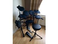 Electronic Drum Kit, Techtonic DD502J, As new condition, stool included