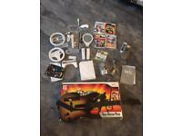 Nintendo Wii Console + 5 games inc Guitar Hero