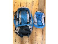Large Backpack for travelling with removable day pack - Karrimor Nazca 65L