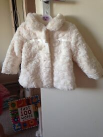 9-12 fur coat immaculate condition