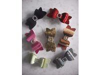 """3.5"""" kimberley glitter bow hair clips £2 each or 3 for £5"""