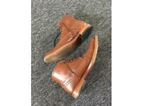 Men's sole trader leather boots