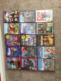 Various animated and kids films