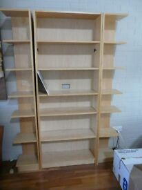 Large Ikea beech bookcase