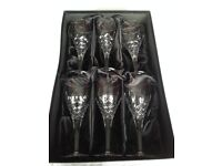 Royal Doulton lead crystal glasses