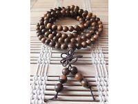 New Shanxing Natural Wood 108 Tibetan Buddhist Meditation Prayer Beads