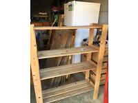 Wooden storage shelving