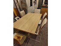 harveys extending dining table and 6 chairs