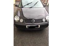 VW Polo 1.2 black 04 63000 miles