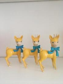 Set of 3 Babycham Bambi deer figurines