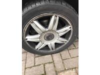 """Volkswagen Seat Audi Skoda set of 4 alloys 16"""" Sport removed from Seat Ibiza sport 2007 with tyres"""
