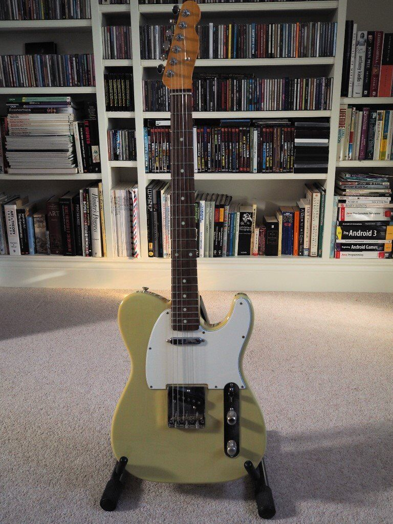 All Parts Blonde Tele with Bare Knuckle Pickups - Rosewood and Maple Necks - Quality Components