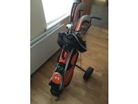 Golf Set of 9 Clubs, including trolley and 48 Slazenger golf balls