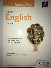 How to pass Higher English book