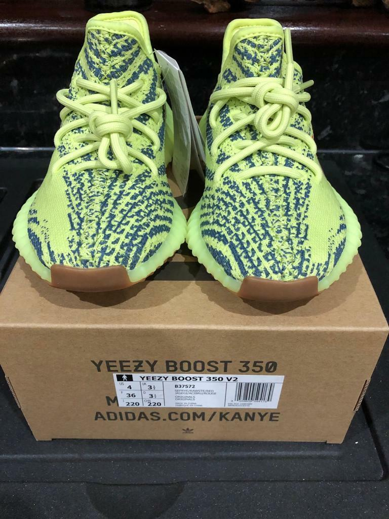 58ee1ed7a Adidas Yeezy Boost 350 V2 Semi Frozen Yellow (B37572) - UK3.5 ...