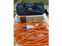 Sunncamp Electric Hook Up Cable With 3 Sockets.