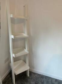 Ladder shelving unit white