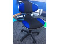 Blue and black desk chair