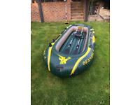 Seahawk 4 inflatable with engine mount, oats and pump