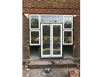 Used aluminium patio doors and window