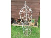 CAST IRON GARDEN TUBULAR TRELLIS, CREEPER TRAINING VINES, ORNAMENT FEATURE, IDEAL UPCYCLE PROJECT