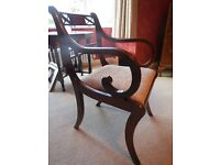 1940's - Lovely Mahogany Dining chairs (2 Carvers / 6 Chairs)