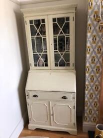 Shabby chic bureau display cabinet