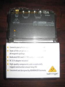 Behringer Microphono Ultra Compact Phono Pre Amplifier for Home Theatre / Stereo Receiver. (PP400). Compact Design