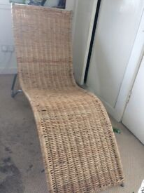 Ikea wicker sun lounger