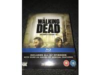 The walking dead season 1-5 bluray brand new Sealed