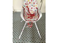High chair without tray