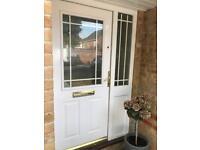 Double glazed wooden front door