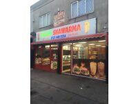 takeaway restaurant for sale/pizza shop for sale/ shawrma restaurant