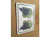 Beautiful French Grape print table mat