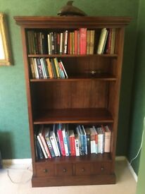 Bookcase: John Lewis dark Maharani hardwood - Chalfont St Peter