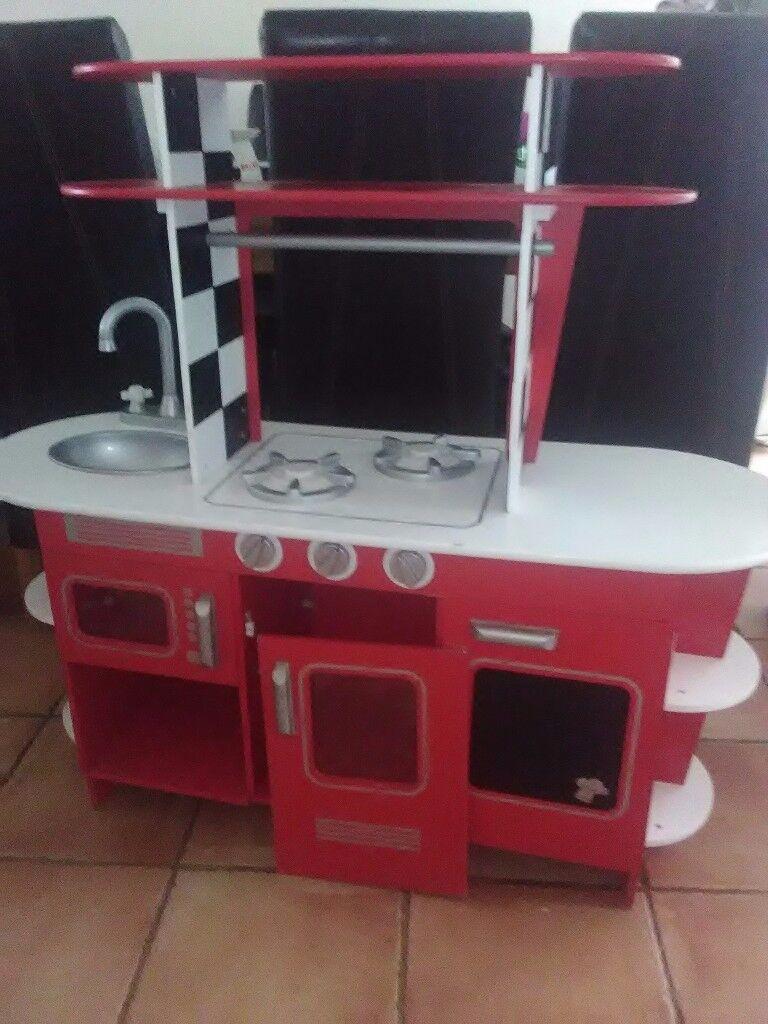 Good condition wooden toy kitchen