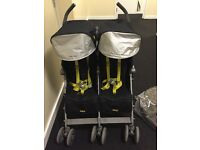 Double Maclaren stroller very good condition