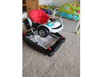 Baby walker racing car