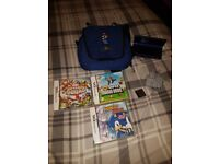 Dsi blue console mario bag and games