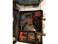 Bosch 24v hammer drill in working order and bosch reciprocating saw in working order