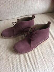Ladies Plum Colour Desert Boots