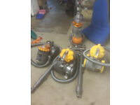 for sale 4 dyson Vacuum Cleaners in working order all sold as seen or for parts £30