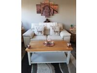 Cream leather sofa in excellent condition- 3 seater.